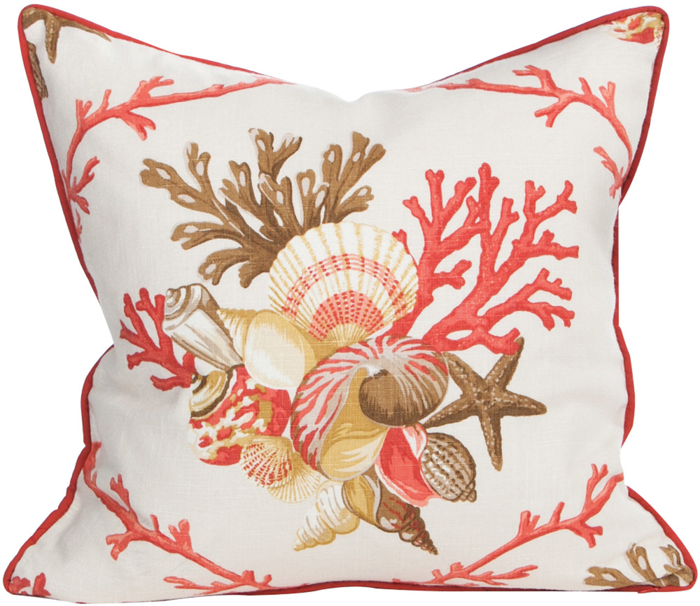 St. John Collection Shellwalk Coral Pillow