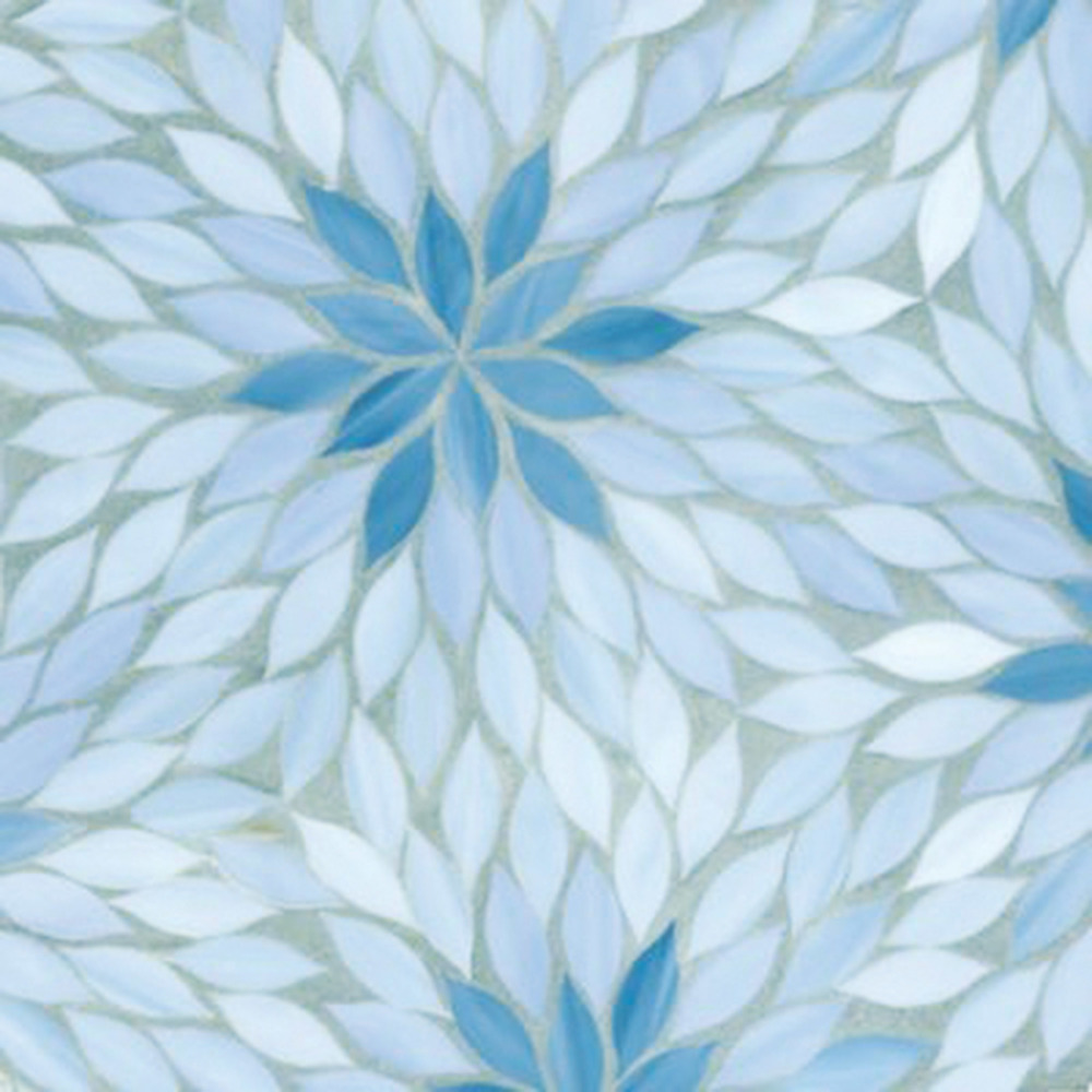 Ann Sacks Blossom Mosaic Glass Tile
