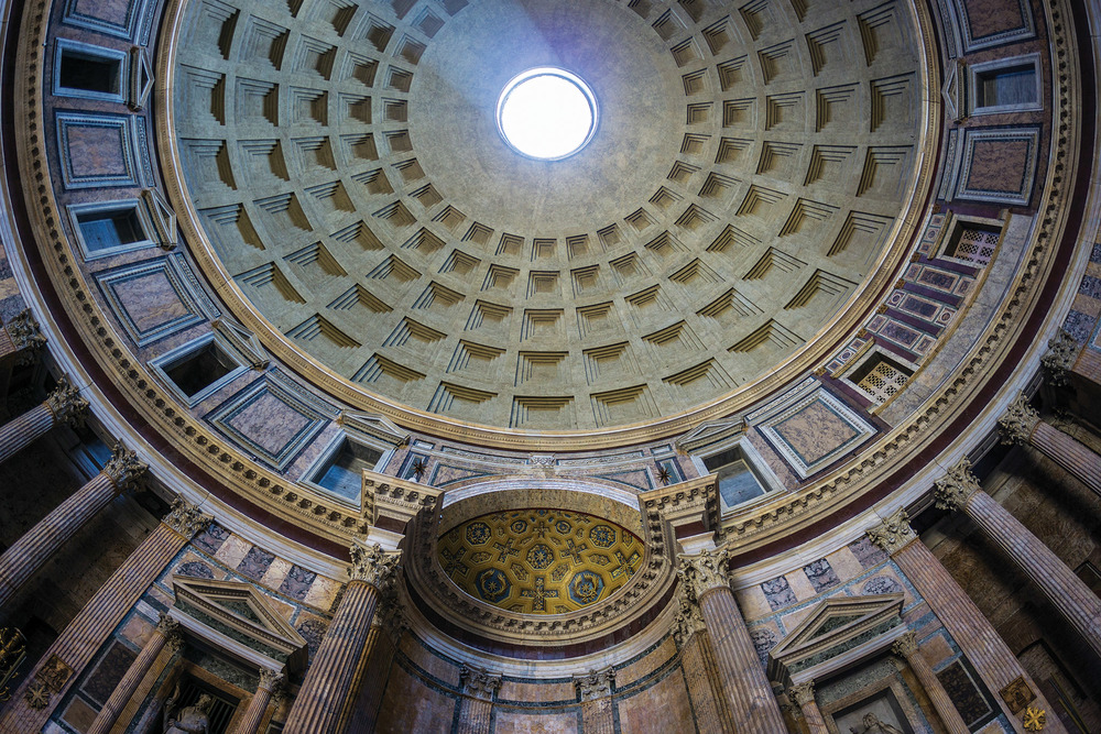 Inside the Pantheon, an oculus opens up to the sky above, suggesting a god's gaze, equally inspirational and watchful. (Esposito Photography / Shutterstock.com)