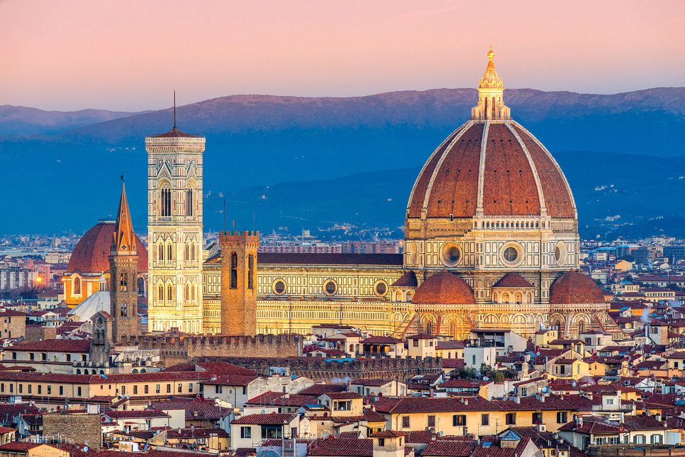 The exquisite dome of the Duomo di Firenze, a UNESCO World Heritage Site, remains the largest brick dome ever constructed.(Luciano Mortula / Shutterstock.com)