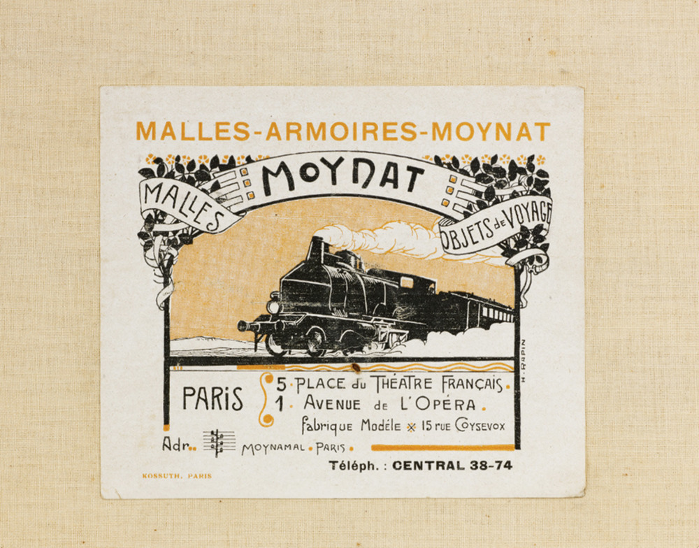 A glimpse of history in an original Moynat print ad. Photos courtesy of Moynat