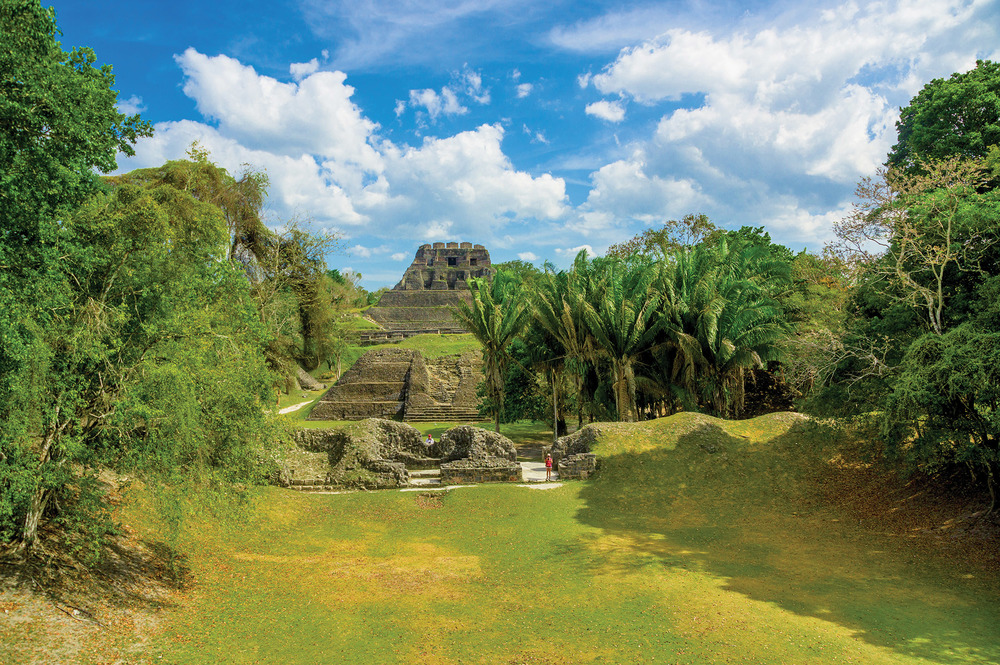 "Mayan for ""Stone Maiden,"" Xunantunich, was an important royal ceremonial centre built around 600 AD. Its plazas once painted in vivid colours are surrounded by temples and palaces — the largest being, El Castillo."