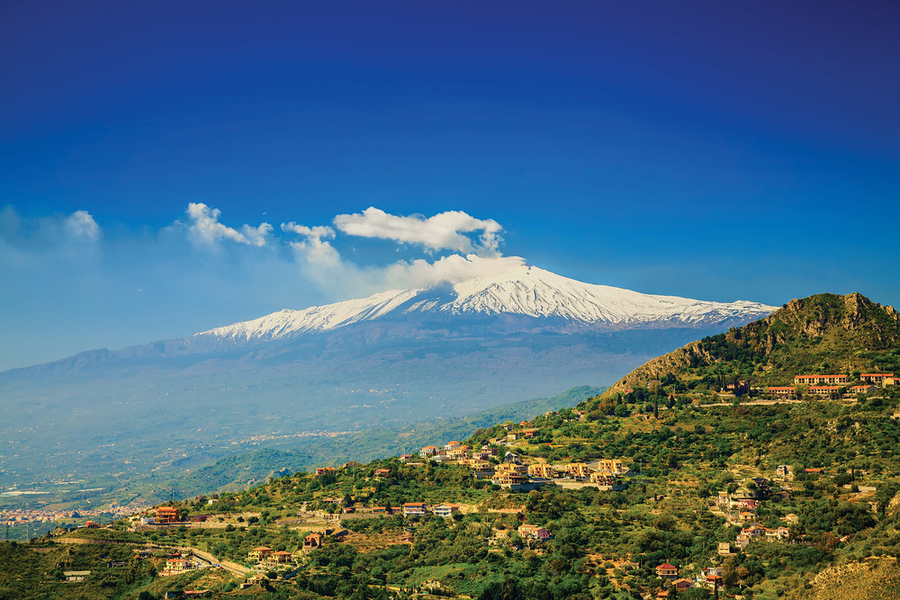 Mt. Etna according to mythology was the forge of Hephaestus (Vulcan), the god of fire. Anna Lurye / Shutterstock.com