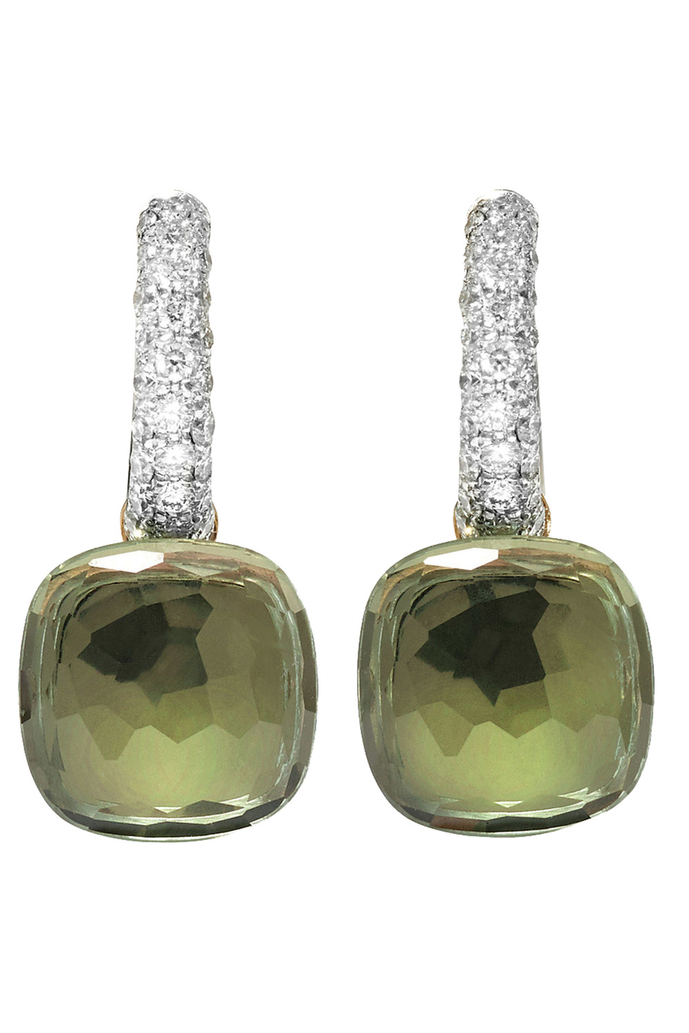 Pomellato Nudo White & Rose Gold with Prasiolite and Diamonds Earrings  $8,730