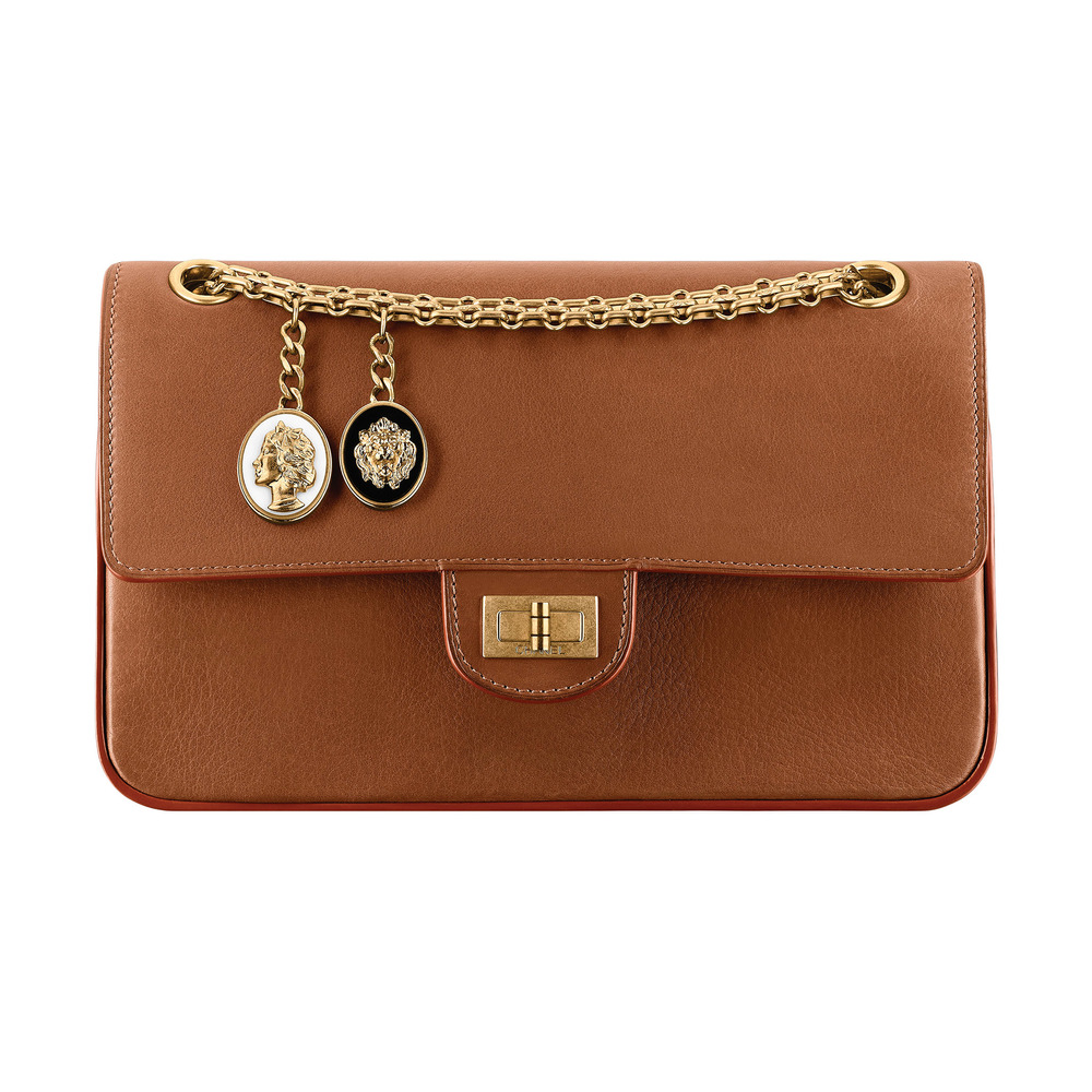 Chanel Camel Leather 2.55 Bag with Charms  Price Upon Request