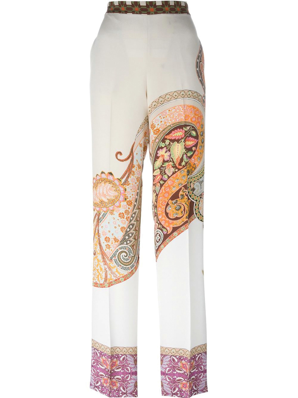 Etro Paisley Print Wide-Leg Trousers $1,147