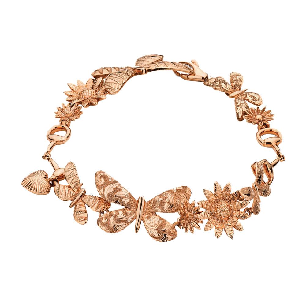 Gucci Rose-Gold Flora Bracelet $3,980