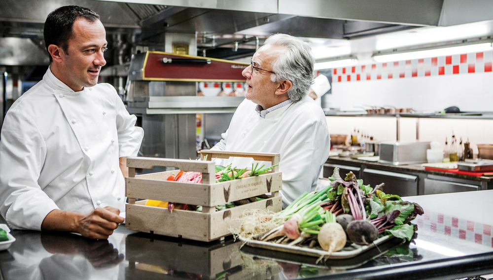 Ducasse and his chef Romain Meder at Plaza Athénée Hotel in Paris redefine popular belief of what is French cuisine. Photography by Pierre Monetta
