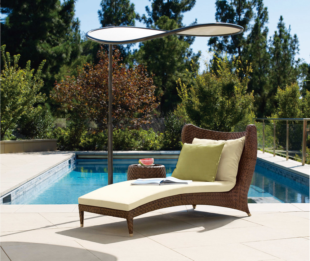 Brown Jordan Papillon Contoured Chaise Price Upon Request At Brougham Interiors, (604) 736-8822  broughaminteriors.com