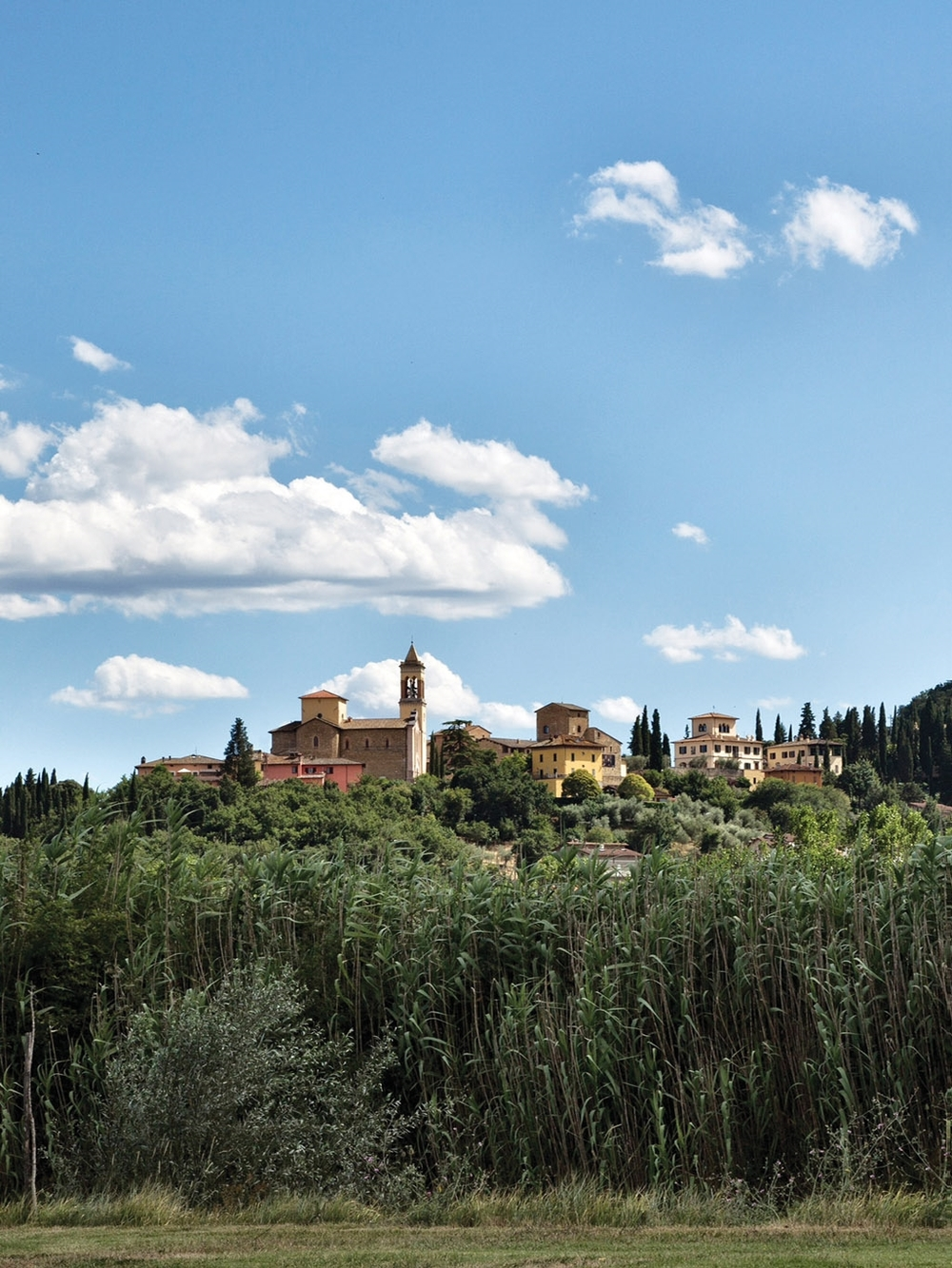 Solomeo is now home to 600 villagers, mostly employed by Brunello Cucinelli in his factory, or flagship store.