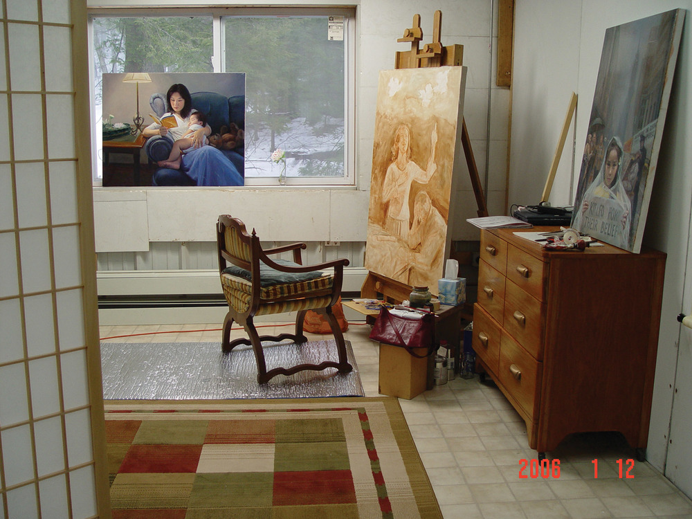 Chen's studio in New York, where she blends Western technique with Eastern philosophy.Photo by Larry Da