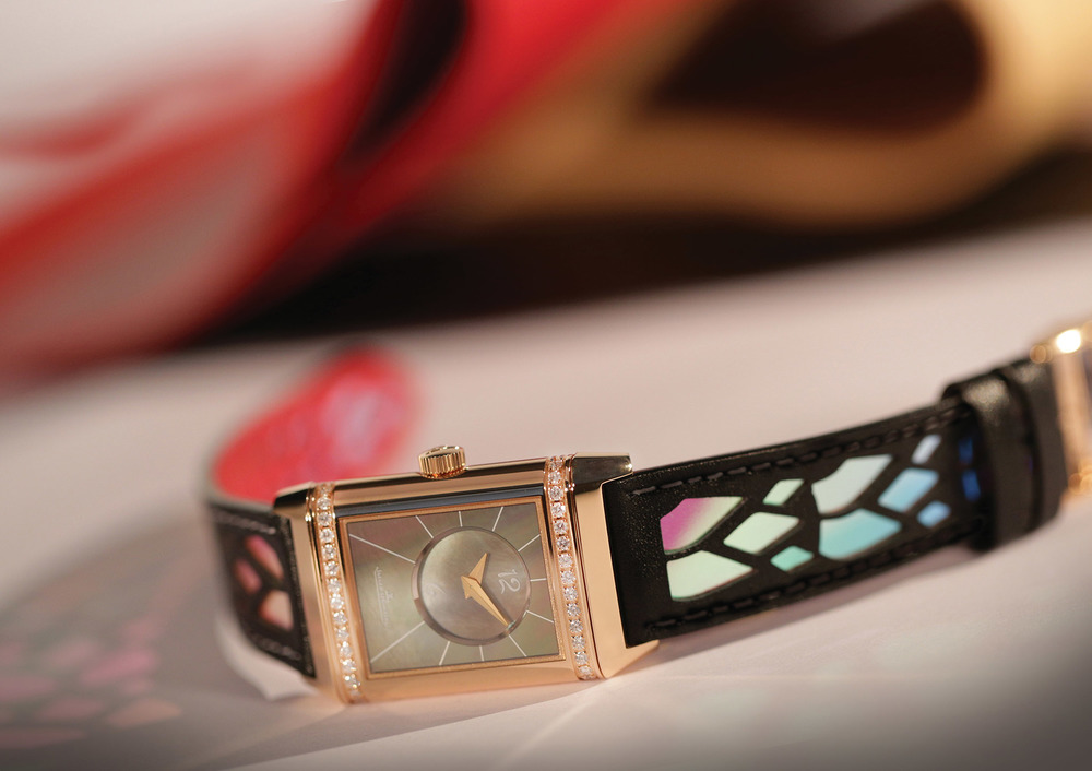 A Jaeger-LeCoultre Atelier Reverso creation by Christian Louboutin.