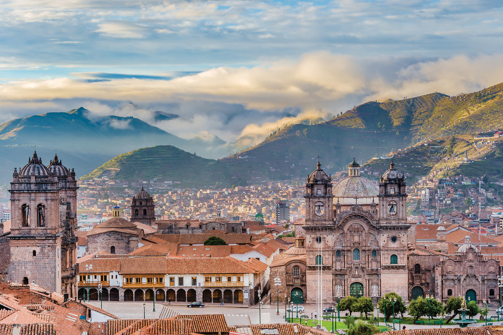 Cusco is widely considered to be the archeological capital of the Americas thanks to its blend of colonial and Incan architecture. Recently, it has become the top tourism draw of the country as well. sharptoyou / Shutterstock.com
