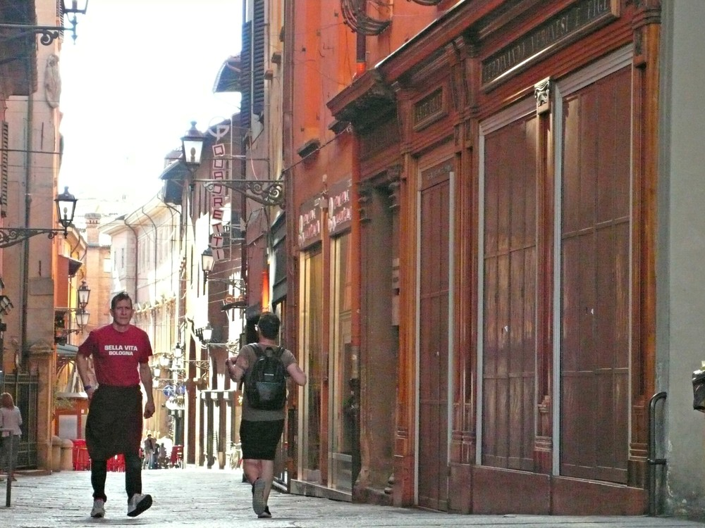 The narrow early morning streets of the red city are quiet, especially on a Sunday. (Ben Maloney)