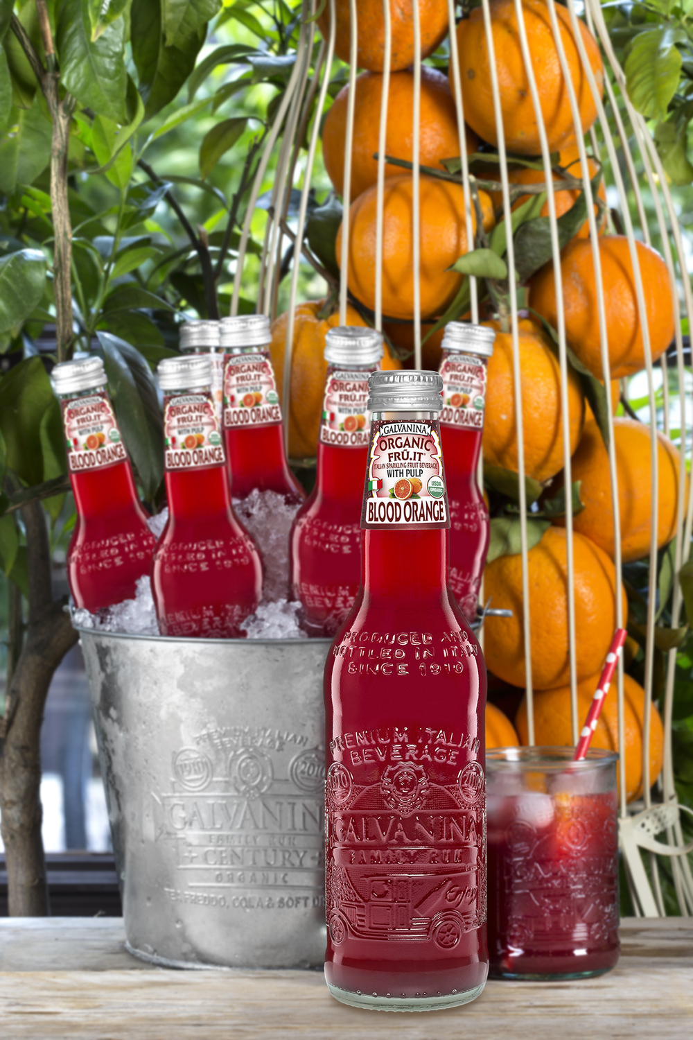 Organic Blood Orange sparkling beverage.  (Image courtesy of La Galvanina)