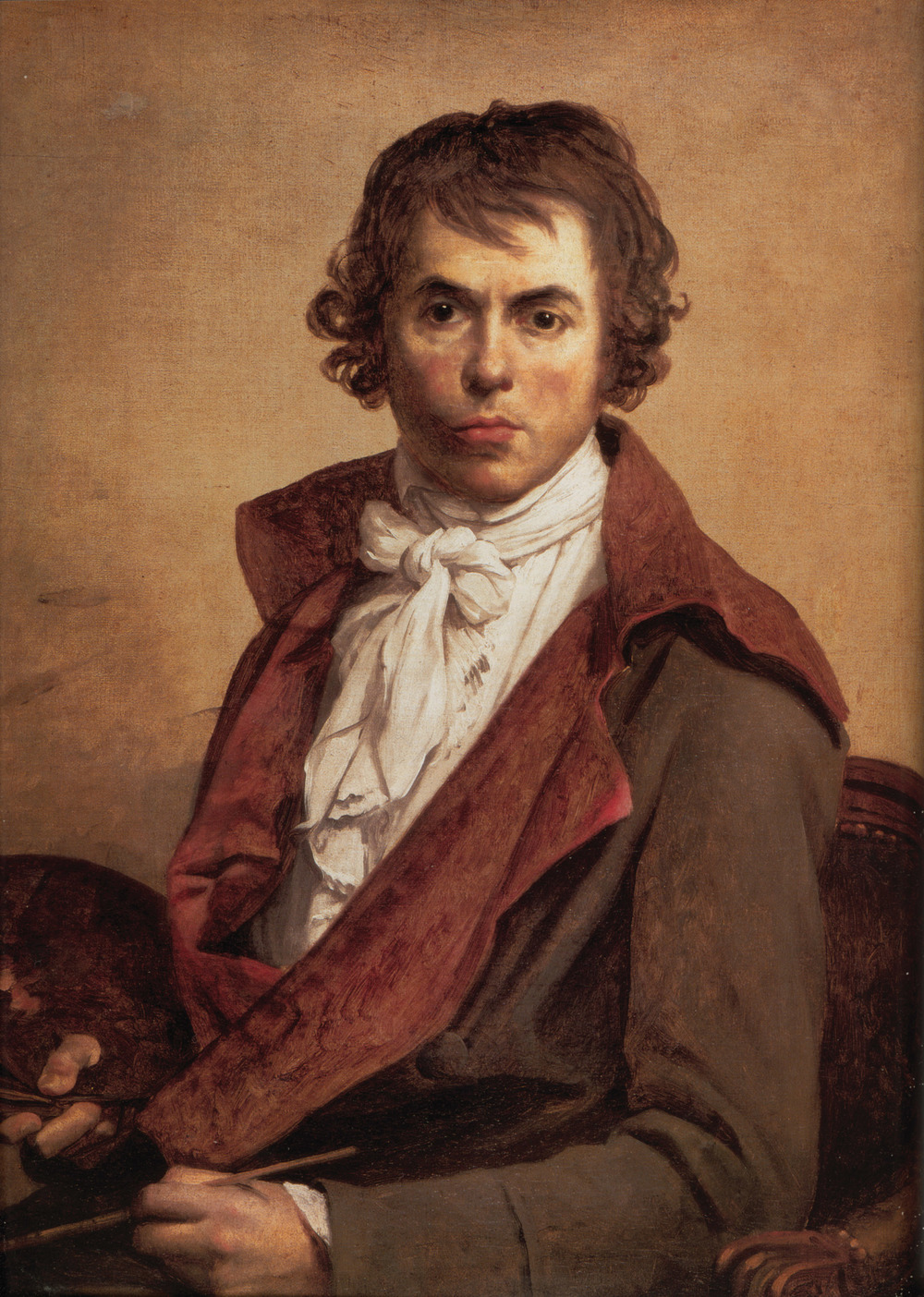 Self-portrait of French painter Jacques-Louis David