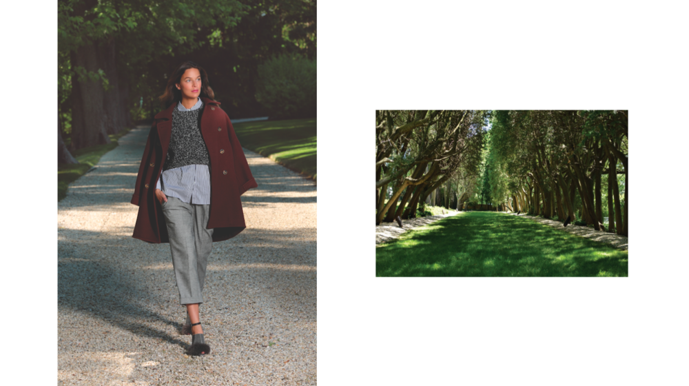 Brunello Cucinelli Oversized Cashmere Peacoat US$7,495 Sherwood Cropped Knit US$2,295 Wide Stripe Button Down Shirt US$1,325 Macro Pow Silk Belt Pants US$1,445 Fur and Monili Heel US$1,995