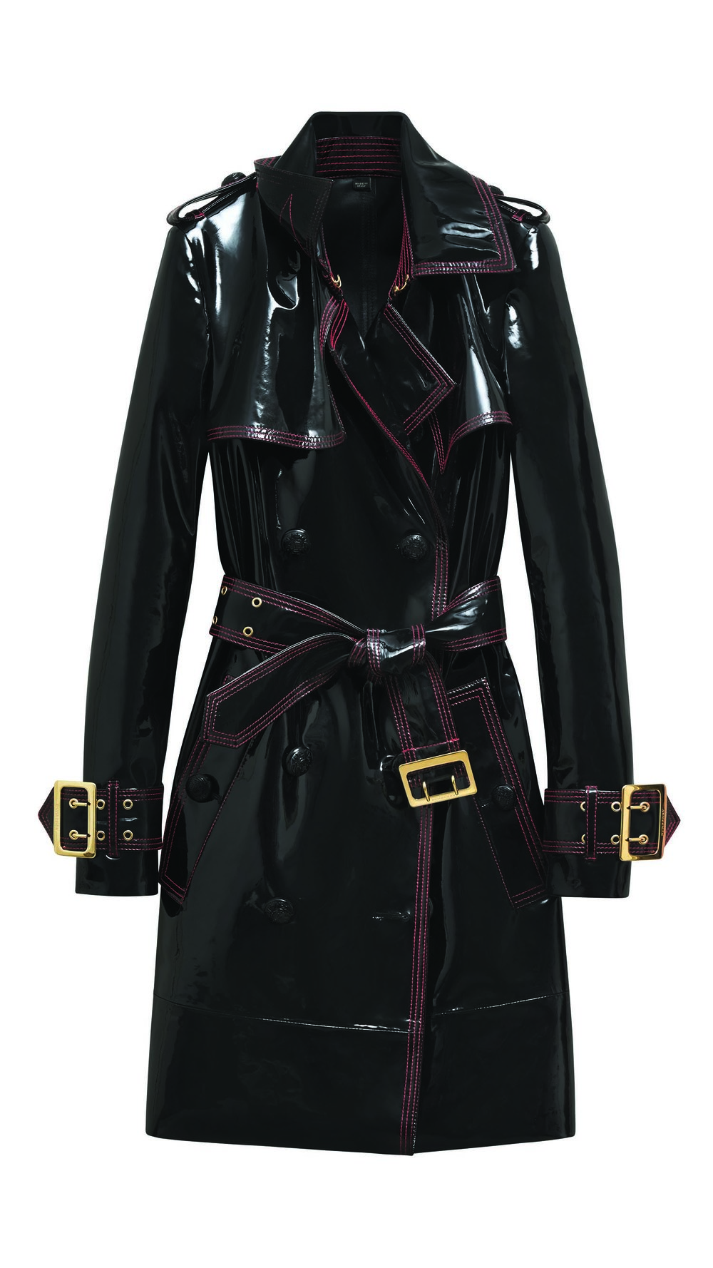 Burberry Patent Leather Trench Coat $6,250