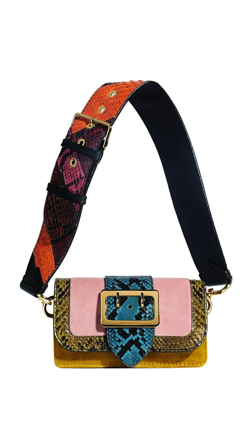 Burberry Patchwork Textured Suede Leopard-Print Calfskin bag $2,895