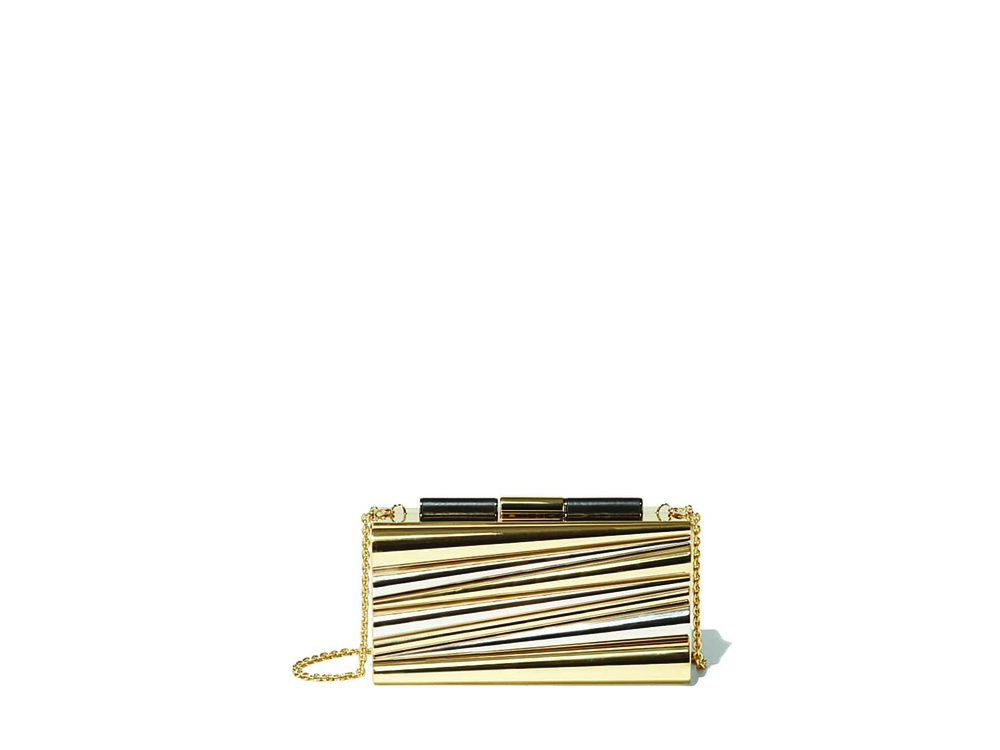 Salvatore Ferragamo Structural Clutch $2,420