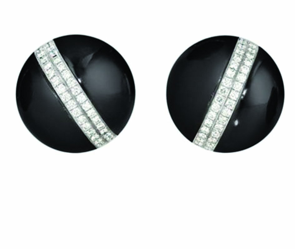 Verdura Black Jade Diamonds Earrings Price Upon Request