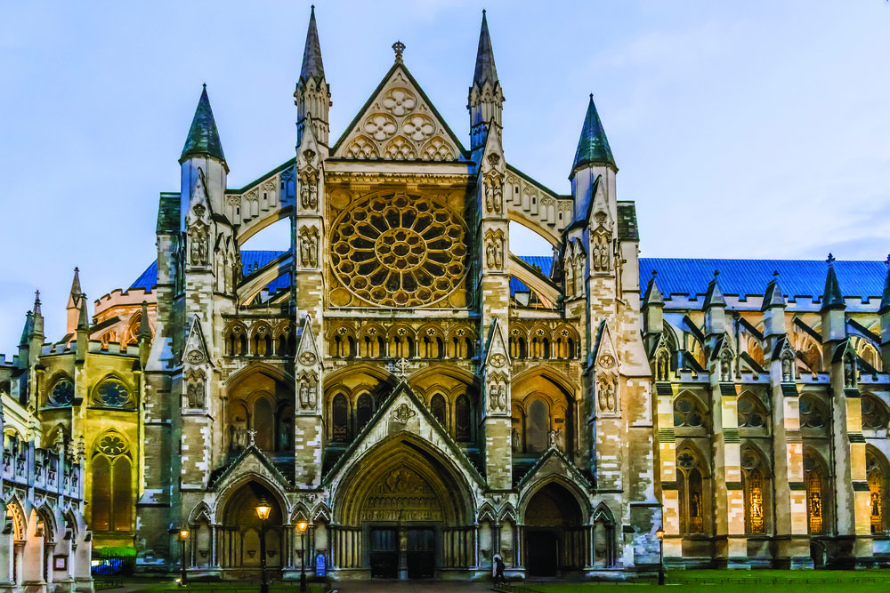 Westminster Abbey has been the traditional place of coronation since 1066. It is also the burial site for many of Britain's most notable monarchs. Kiev.Victor / Shutterstock.co