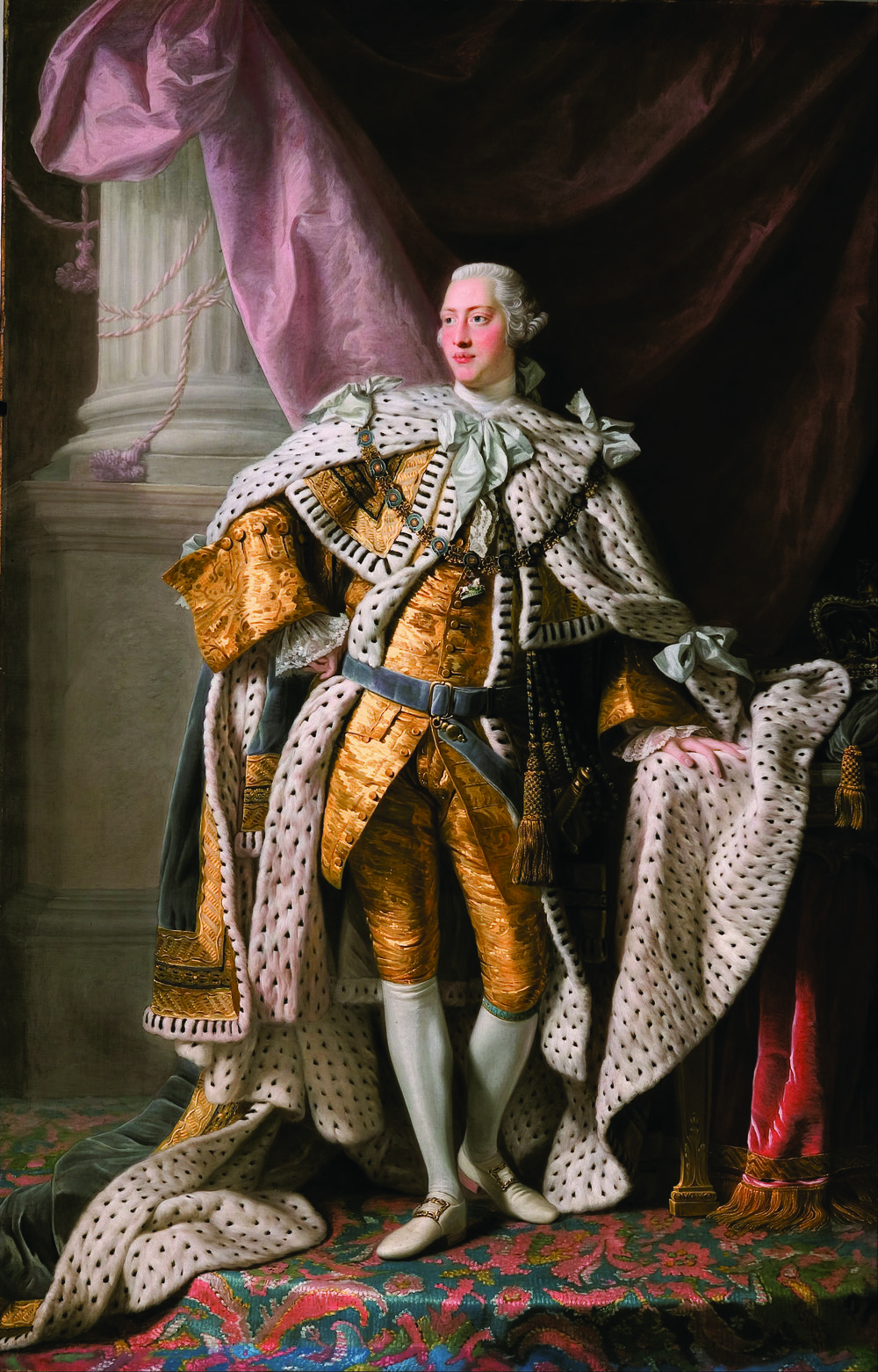 The 1762 Coronation portrait of King George III by Allan Ramsay. Wikimedia
