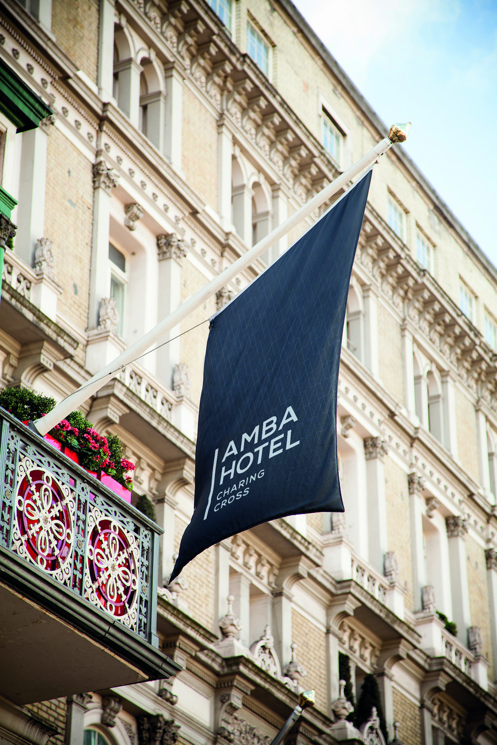 Legendary places to stay – Amba Hotels Charing Cross  Best for: a royal march along the Strand  Amba Hotels Charing Cross overlooks the historic Strand in central London. It's within view of the National Gallery and a short walk to Big Ben and the Houses of Parliament. It's equipped with all the modern essentials you'd need for a royal stay, while still maintaining a classic British feel.