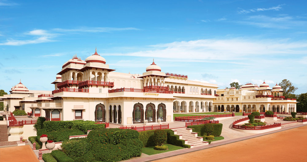 Once a modest royal hunting lodge for Maharaja Sawai Madho Singh in 1887, now the Rambagh Palace is a luxury hotel just outside of the Rajasthan city of Jaipur. Photo courtesy of Taj Hotels Resort and Palaces