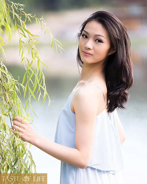 Shen Yun Performing Arts dancer Eden Zhu outside the studios where she trains in upstate New York.