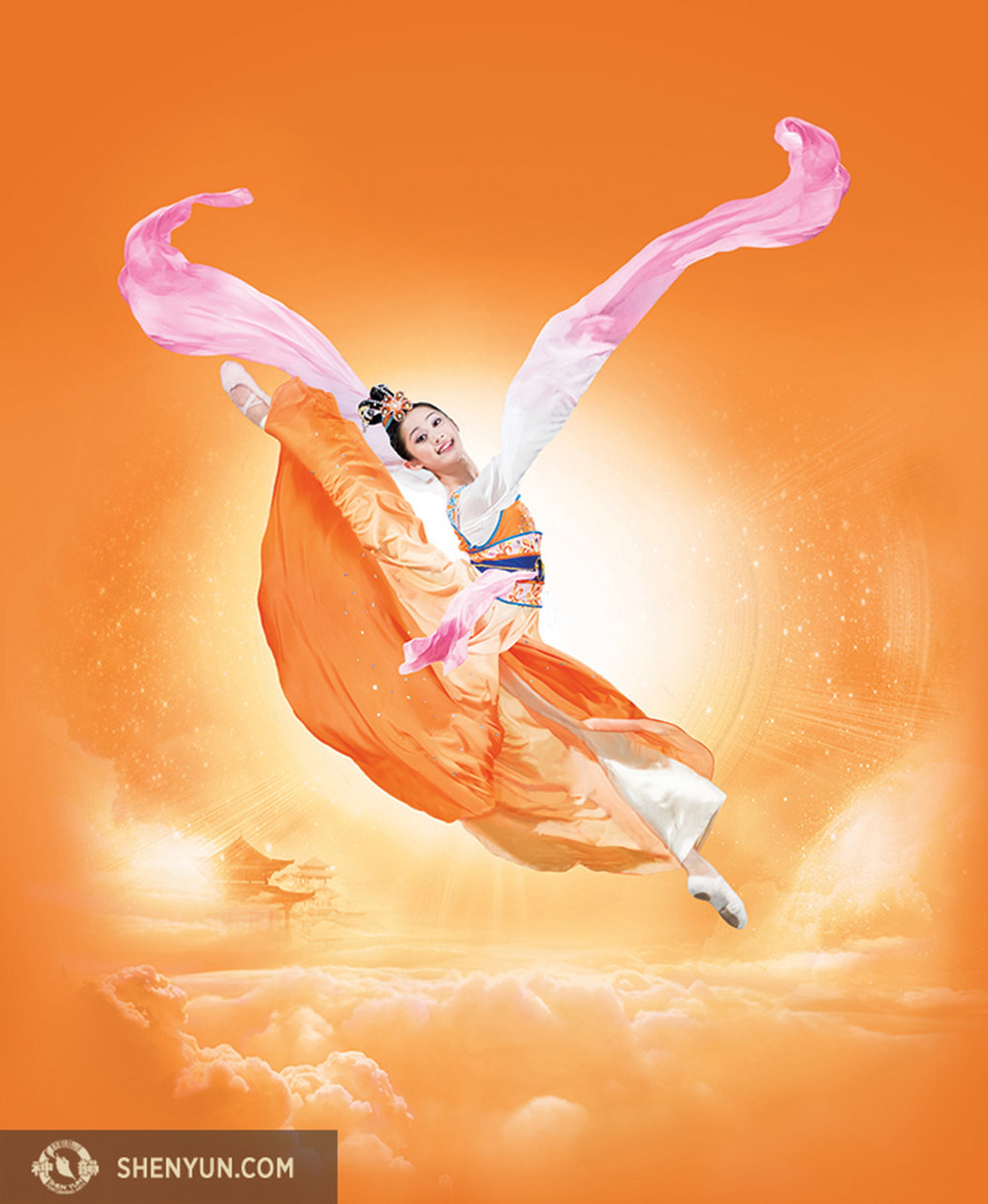 By focusing on her inner bearing, Wang transforms into celestial maidens that make the audience cry as much as smile. www.shenyun.com