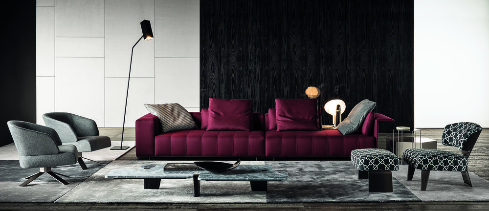 You can sit up or lie down at either end of Minotti's 2016 Freeman Lounge collection, hallmarking its signature blend of comfortable, clean functional beauty.