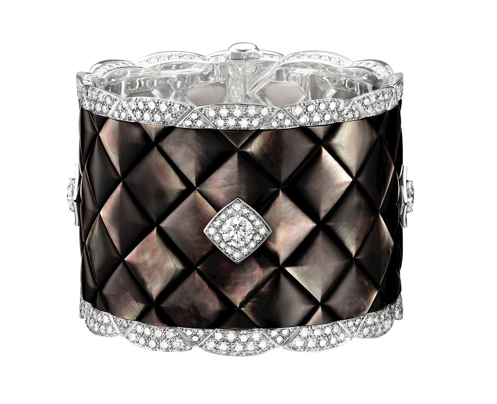 "CHANEL ""Signature de Nacre"" Cuff CHANEL Fine Jewelry  price upon request"