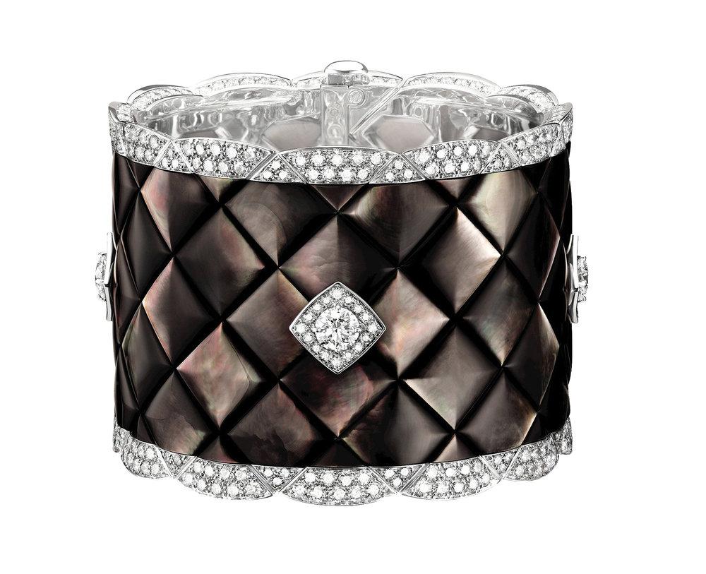 """CHANEL """"Signature de Nacre"""" Cuff CHANEL Fine Jewelry  price upon request"""