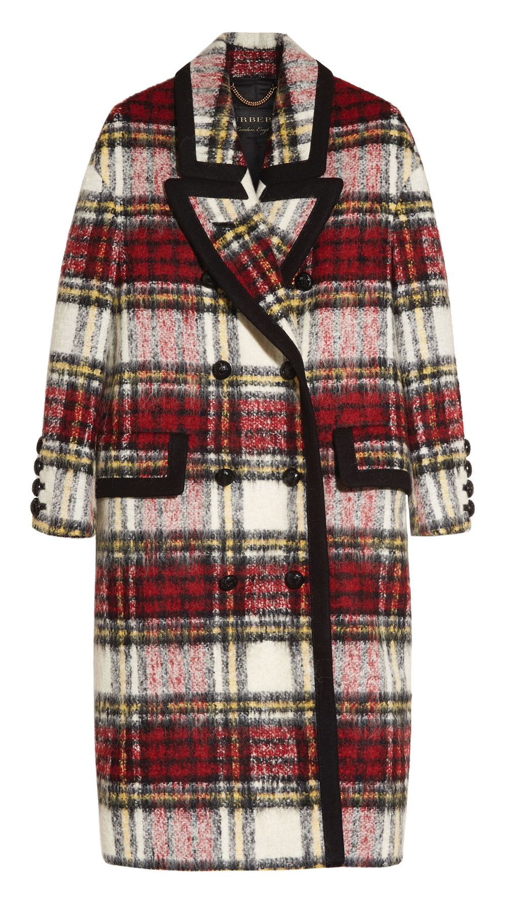 Burberry Elderberry Check Coat $4,695