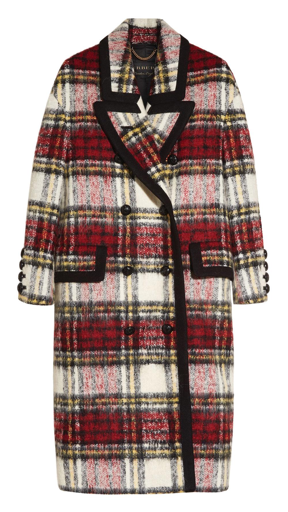 Burberry Elderberry Check Coat $4,695
