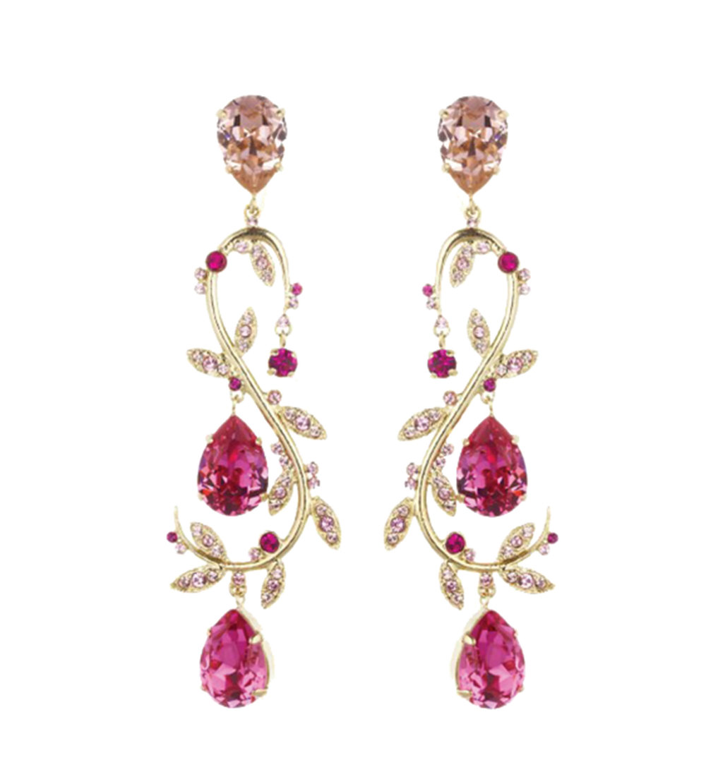 Oscar de la Renta Crystal Vine Earrings $931