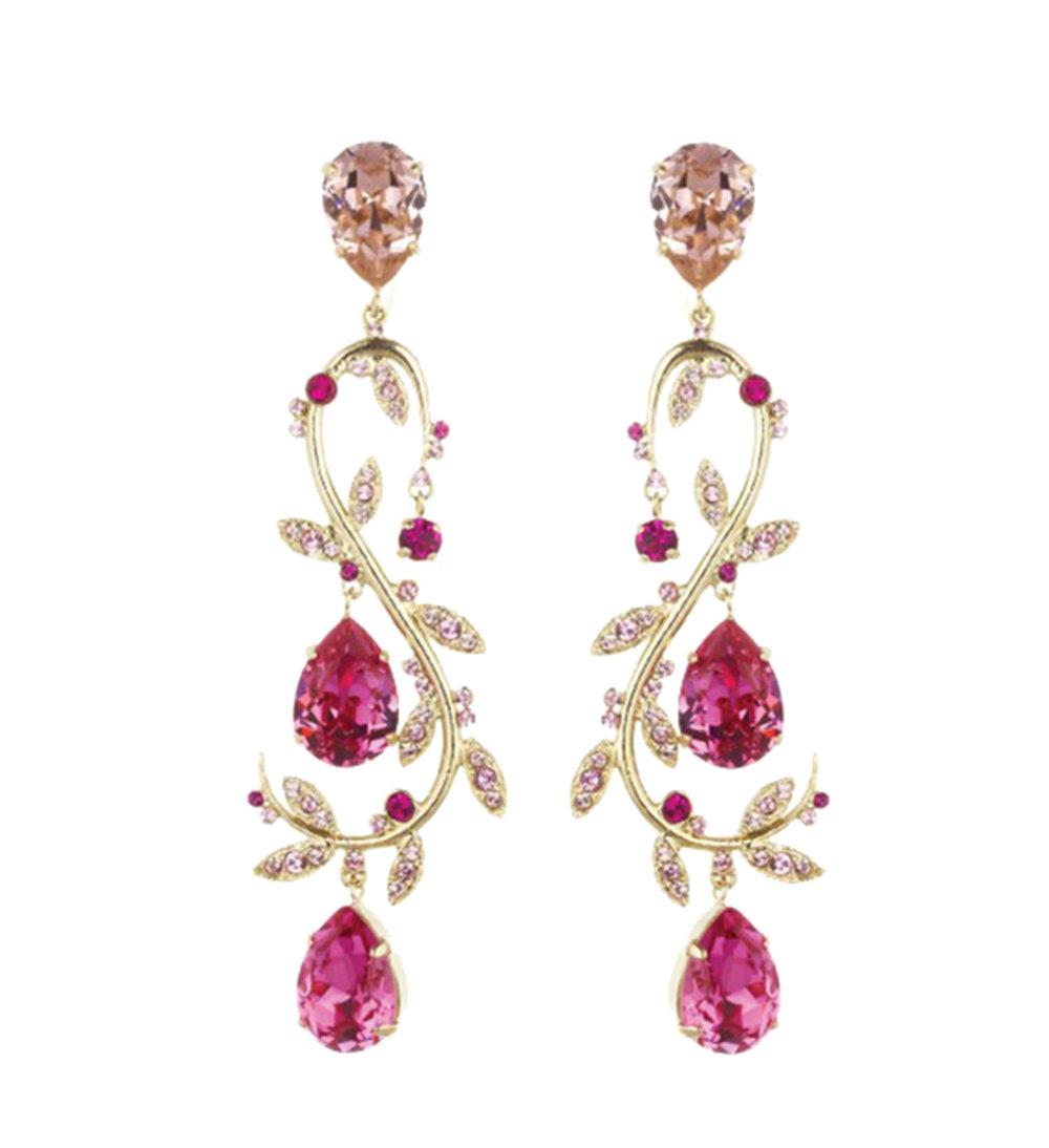 Oscar de la Renta Crystal Vine Earrings $931