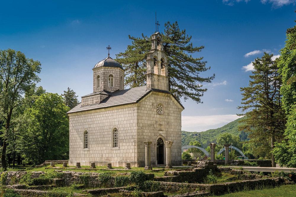 The Vlaska Court Church is the oldest building in Cetinje. Nikiforov Alexander / Shutterstock.com