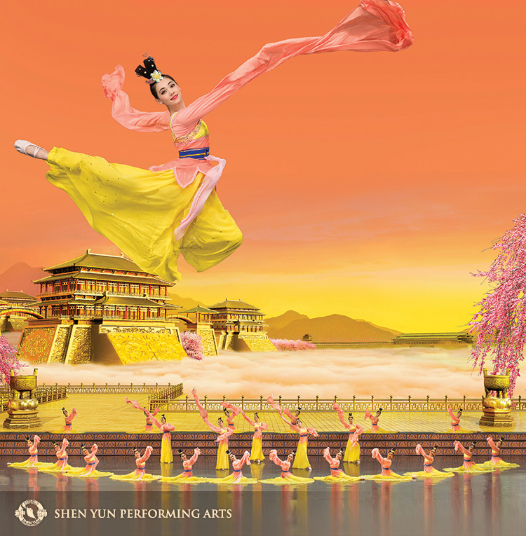 Graceful, innocent, flowing celestial deities come naturally to the lead dancer.www.shenyun.com