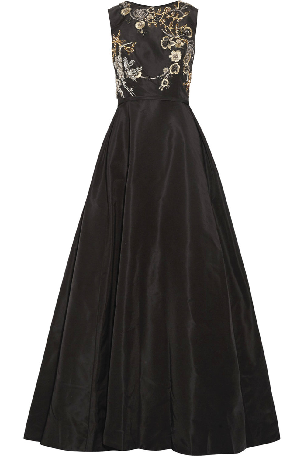 Silk Faille Gown With Crystal-Embroidered Bodice by Oscar de la Renta‭ ‬$12,395,  oscardelarenta.com