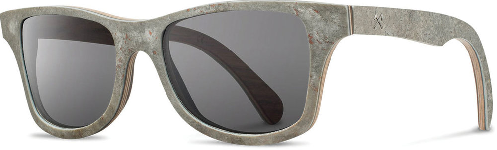 CanbyStone White Slate / Grey Polarized Sunglasses by Shwood‭ ‬US$350, shwoodshop.com