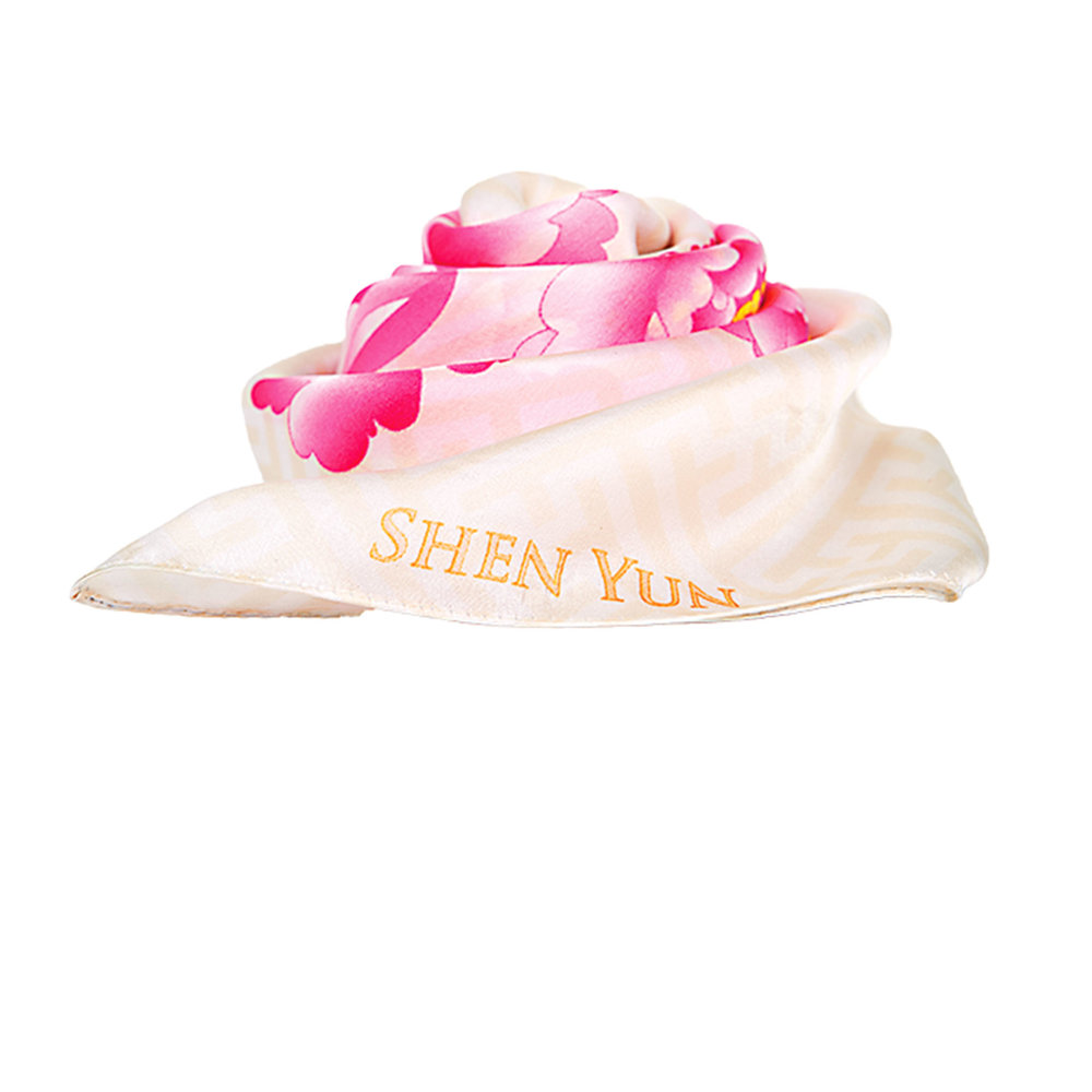Flower Fairies Silk Scarf by Shen Yun Performing Arts‭ ‬US$119,  shop.shenyun.com