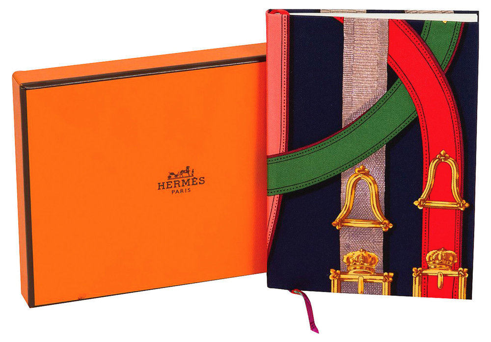 Blank Notebook Silk Cover by Hermès $140,  canada-en.hermes.com