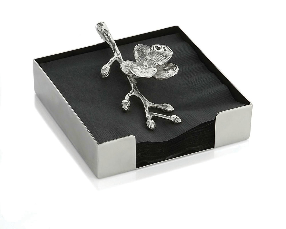 Michael Aram White Orchid‭ ‬  Cocktail Napkin Holder