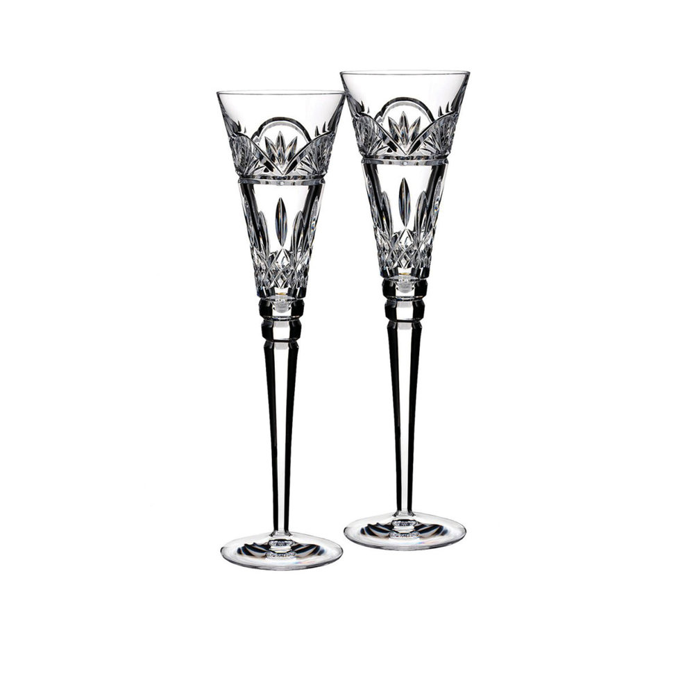 Waterford Lismore Celebrations Toasting Flute 2-Piece Setting