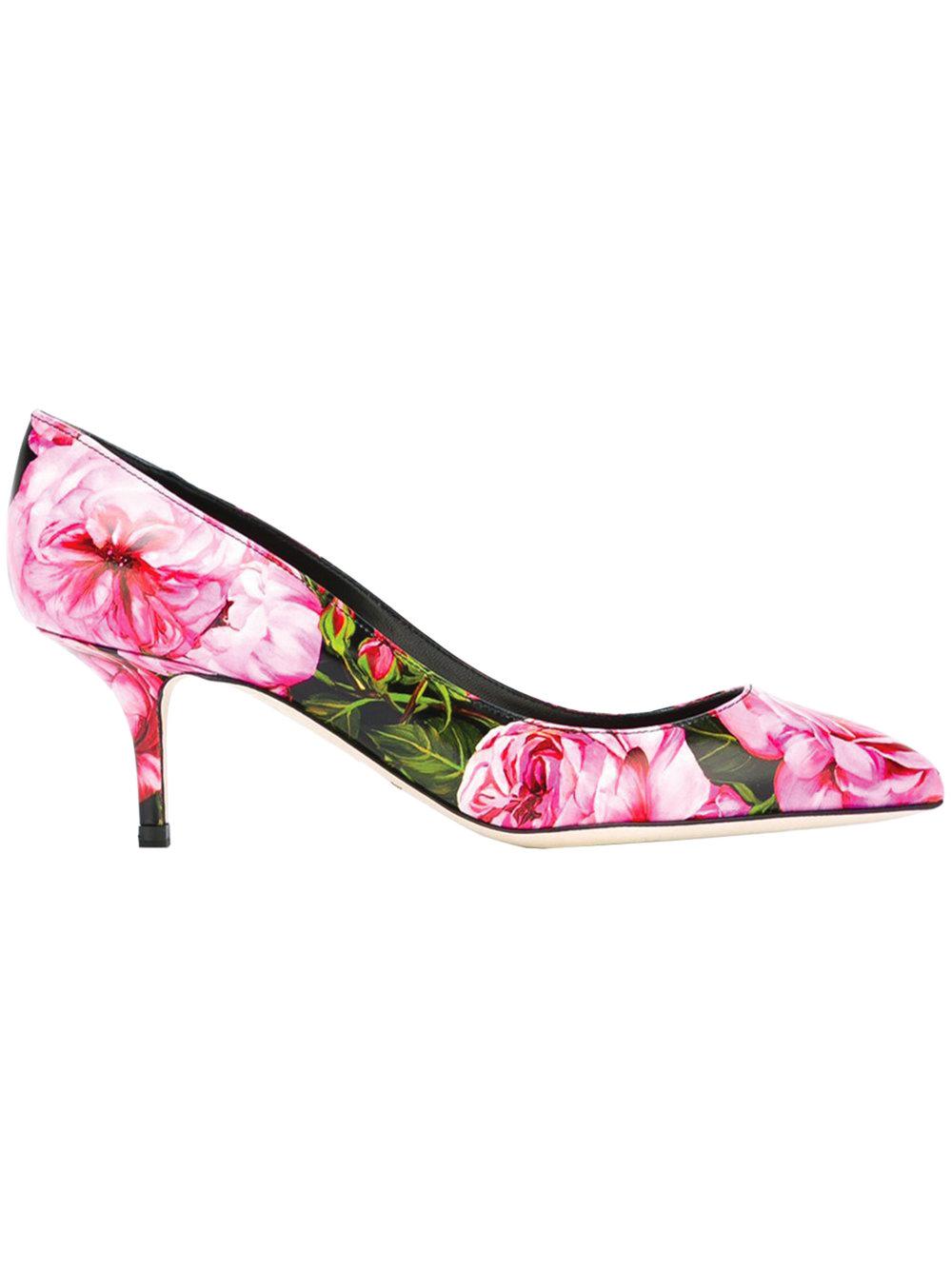 9.Camellia Print Pumps by Dolce & Gabbana 高跟鞋 $1,014, farfetch.ca