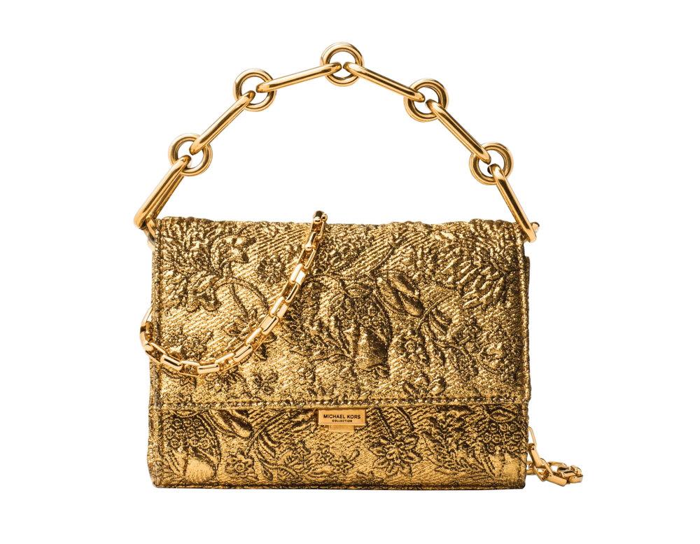 7.Small Yasmeen Metallic Brocade Clutch by Michael Kors $950, saksfifthavenue.com
