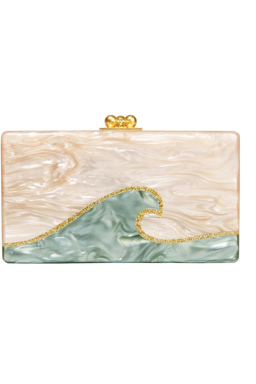 6. Jean Tidal Wave Acrylic Box Clutch by Edie Parker US$1,295,  net-a-porter.com