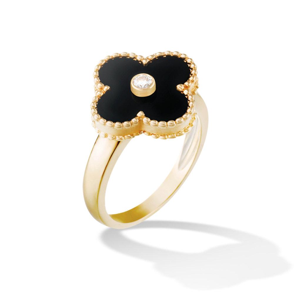 3.Vintage Alhambra Ring by Van Cleef & Arpels $4,050,  vancleefarpels.com